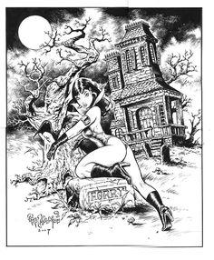 Vampirella ~ Steve Mannion Comic Art
