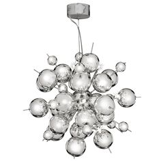 Searchlight Lighting Molecule 12 Light Halogen Ceiling Pendant in Polished Chrome Finish - Searchlight Lighting from Castlegate Lights UK Antique Chandelier, Sputnik Chandelier, Ceiling Pendant, Chandelier Lighting, Ceiling Lights, Light Pendant, Chandeliers, Stairway Lighting, Or Antique