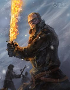 Beric Dondarrion by gv-art on DeviantArt Dnd Characters, Fantasy Characters, Game Of Thrones Illustrations, Pictures Of Jordans, Game Of Thones, Got Game Of Thrones, Kings Game, Fire Art, Stranger Things Season