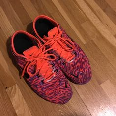 Nike FREE 5.0 TR fit 4 Orange and purple leopard Nikes very  comfortable and light weight. (Used a couple times like new) Nike Shoes Sneakers