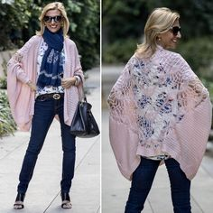 LAST CHANCE TO SAVE on our Pink Cardigan with Crochet Back, Pink and Blue Floral Stripe Tshirt and Navy Embroidered Scarf - All part of our 24-HR Flash Sale. . Use Code FS327 to get 15% off featured items plus Free US Shipping www.jacketsociety.com