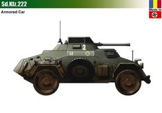 Sd.Kfz.222 Army Vehicles, Armored Vehicles, Armored Car, Mg 34, Armoured Personnel Carrier, Model Tanks, Ww2 Tanks, World Of Tanks, Military Photos