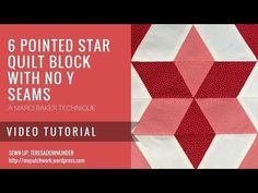 Video tutorial: Easy 6 pointed stars without Y seams - YouTube