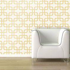 living room accent wall? Cubix Wallpaper - Gold Rush - Wall Decals at Hayneedle