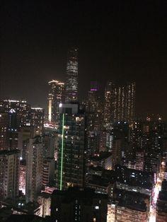 Hong Kong. Vista de noche