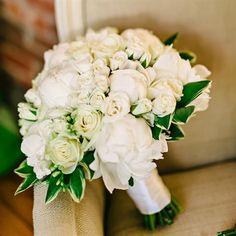 White Rose Bridal Bouquet  photo by: Dominique Attaway bridal bouquet: Blue Ridge Floral Design  from the album: A Rustic, Elegant Wedding in Charlottesville, VA