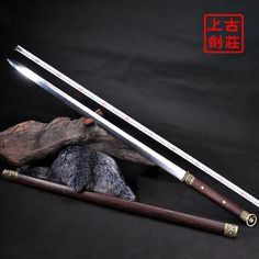 High-Grade Manganese Steel Tang Tai Chi Sword Concept Weapons, Armor Concept, Fantasy Armor, Fantasy Weapons, Odin's Spear, Tai Chi Exercise, Cane Sword, Viking Sword, Master Sword