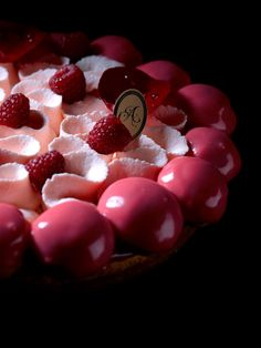 Saint Honore L'amour  [Rose petal cream, rose profiterole, red fruit compote] | Antoinette at Mandarin Gallery, Singapore
