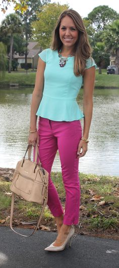 Peplum AND bright colors?!  This is way out of my comfort zone... but maybe I'd love it when I tried it on?