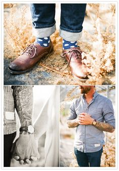 oh, i LOVE this idea!!! but, i doubt we could get ryan to wear polka dot socks...perhaps argyle??