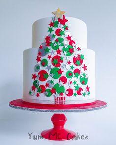 modern Christmas tree cake