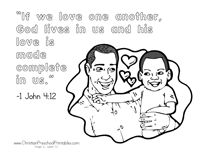 Valentine\'s Day Bible Coloring Page \