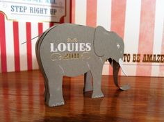 Paper invitation. Make your own elephant.