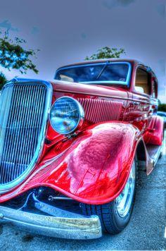 Classic red Ford. www.ZeckFord.com #ZeckFord #FourthOfJuly #ThrowBackThursday