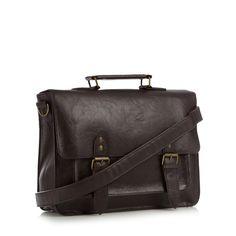 Red Herring at Debenhams - Brown textured satchel bag
