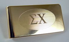 Sigma Chi Brass Greek Letter Money Clip