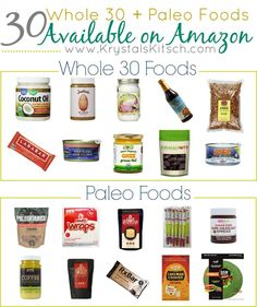 Follow paleo or getting ready to start a Whole 30? Grab a few grocery essentials with this Whole 30 grocery list!