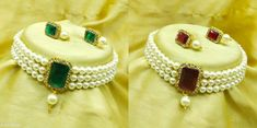 Checkout this latest Jewellery Set Product Name: *Combo Choker Necklace Set* Country of Origin: India Easy Returns Available In Case Of Any Issue   Catalog Rating: ★4.1 (916)  Catalog Name: Diva Glittering Jewellery Sets CatalogID_1744962 C77-SC1093 Code: 432-9816446-576