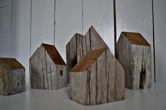 A bit different, I love what people make from aged wood! And these seem so perfectly placed...