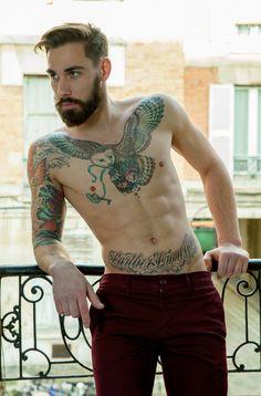 Best Owl Tattoos for Men - Buy lehenga choli online Mens Owl Tattoo, Beard Tattoo, Tattoo Muster, Owl Tattoo Design, Hipster Beard, Lehenga Choli Online, Inked Men, Inked Guys, Tattooed Guys