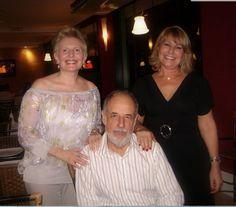 Sergio, Tania e eu versão recente da foto célebre rsrsrsrsrs