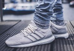 4539457763c070 ADIDAS ORIGINALS UltraBoost in a  Tan  amp  Cream  Street Outfit