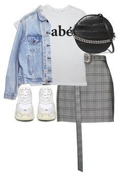 """Untitled #5450"" by theeuropeancloset on Polyvore featuring Balenciaga, Magda Butrym, Levi's and Little Liffner"