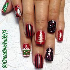 christmas by creativenailsii #nail #nails #nailart