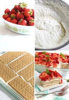 Strawberry Icebox Cheesecake Dessert | Sprinkle Bakes