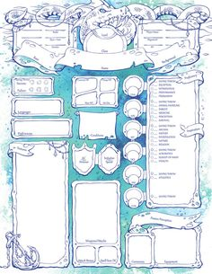 Dungeons And Dragons Rules, Dungeons And Dragons Characters, Dungeons And Dragons Homebrew, D D Characters, Rpg Character Sheet, Fantasy Character Design, Character Creation, Mega Anime, Dungeon Master's Guide