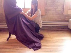 How to Bustle A Gown//Use French Bustle for Claudia and KR Katrina Van Tassle