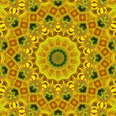 Sunflower mandala. Yellow energy is related to the ability to perceive and understand. The brilliance connects us to our mental self.