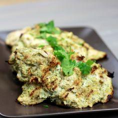 Cilantro Yogurt Marinated Chicken- use fat free greek yogurt and extra cilantro and garlic...yummy!