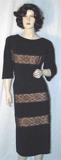 Peggy Hunt Illusion Lace Panel Dress