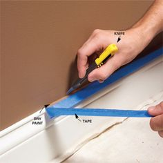 10 Interior House Painting Tips & Painting Techniques for the Perfect Paint Job - Article: The Family Handyman Do It Yourself Inspiration, Diy Casa, Ideias Diy, Tips & Tricks, Home Repairs, Home Hacks, Room Paint, My New Room, Diy Painting