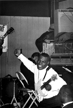 Howlin' Wolf on stage at Silvios, Chicago, early 60's.