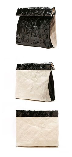 Envelope Clutch Purse- Sheepskin Leather- Medium Black & White Leather Clutch Bag-Wrinkled Fold over Clutch purse-High Quality and Returns