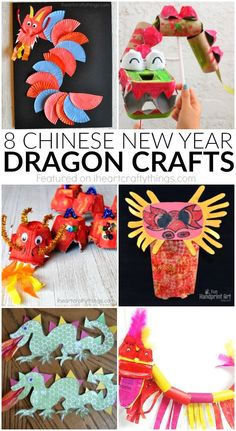 These awesome Chinese New Year Dragon #crafts are perfect for celebrating Chinese New Year with kids.