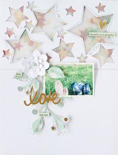 PHOTO + PAPER + STAMP = CRAFTTIME!!!: Star shaker window Scrapbooking (Sizzix) #ScrapbookLove