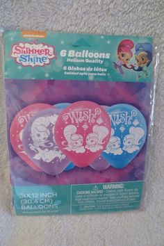 Girl Shimmer and Shine Birthday Party Balloons 6- 12 in New  #Nickelodeon #BirthdayParty