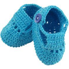 Sapatinho de crochê para menino recém nascido com linha Charme. - Bebê e Arte Brasil - Artesanato, artigos e roupas para bebês.