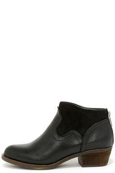 Kensie Gabor Black Ankle Boots at Lulus.com!