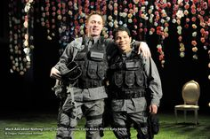 The Oregon Shakespeare Festival. 2015. Much Ado about Nothing written by William Shakespeare. Directed by Lileana Blain-Cruz. Lighting Design by Yi Zhao. Set Design by Scott Bradley. Costume Design by Kara Harmon. Photo by Jenny Graham. #MuchAdoOSF https://www.osfashland.org/productions/2015-plays/much-ado-about-nothing.aspx