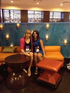 Me and my amazing (and gorgeous!)Harlequin editor, Laura Barth having breakfast at RWA Nationals in San Antonio 2014