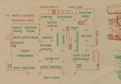 A circa pamphlet featuring the new layout of Robertson's Department Store in South Bend, Indiana South Bend, Hand Jewelry, Back Home, Indiana, Stationery, Flooring, Cards, Childhood, Times