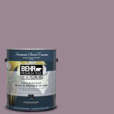 BEHR Premium Plus Ultra 1-gal. #690F-5 Purple Mauve Satin Enamel Interior Paint
