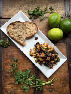 Oil free Black Bean Salad with Pickled Jalapenos! Cinco be mmmmm!