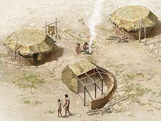 Illustration: Stacked-stone huts