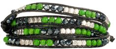 Cheer on the Hawks with a beautiful beaded Seattle Wrap Bracelet. This will become your new good luck charm! Bracelets have four button holes to fit wrist sizes