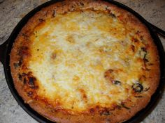 Iron Skillet Deep Dish Pizza | Tasty Kitchen. I love cooking with my cast iron skillet.